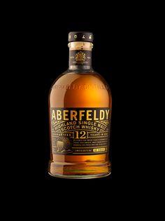 Aberfeldy Single Malt Scotch Whisky on Packaging Design Served