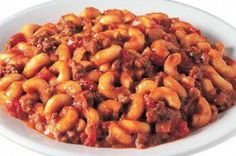 """This is a recipe that my mother used to make. It's a meat and pasta """"goulash"""". it's easy to make and good for any day of the week. Enjoy!"""