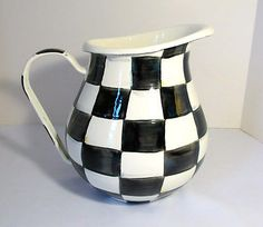 MacKenzie Childs Courtly Check Enamel Pitcher - Large - BRAND NEW