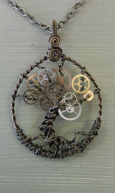 steampunk tree of life. Since Pinterest link broken, I believe it comes from this Etsy store.