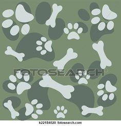 hintergrund, mit, hundepfote, abdruck, und, b Große Clipart Grafik anschauen