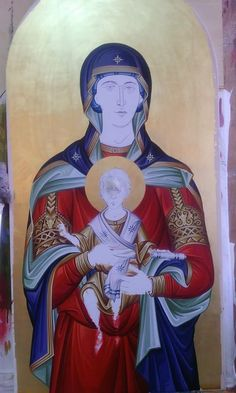 Orthodox Icons, Virgin Mary, Anime, Painting, Fictional Characters, Videos, Art, Art Background, Painting Art