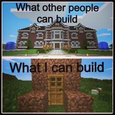 Well I can build that nice dirt shack... Or I could live in a hole in the ground! :D