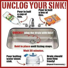 Cleaning drains without Drano