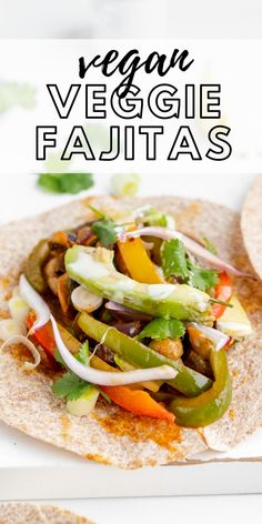 These delicious vegan fajitas are super easy to make for a quick, tasty plant-based meal the whole family will enjoy. Vegan Mexican Recipes, Vegan Dinner Recipes, Vegan Dinners, Vegan Recipes Easy, Brunch Recipes, Real Food Recipes, Vegan Fajitas, Marinated Vegetables, Healthy Vegan Breakfast