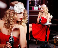 I love Taylor swift, she's so down to earth, beautiful, elegant & funny (: shes my inspiration. And I love how she's wearing a justice headband! Lol