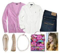 """""""School"""" by isabelrohrer ❤ liked on Polyvore featuring J.Crew, Polo Ralph Lauren, Abercrombie & Fitch and Vera Bradley"""