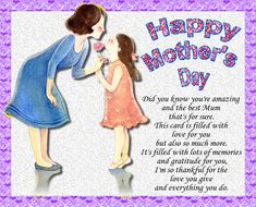 Send mum Mother's Day wishes to let her know that she's amazing. Free online Mum, Did You Know You're Amazing ecards on Mother's Day Big Hugs For You, Hug You, Mother Day Wishes, Happy Mothers Day, Warm Hug, Love Hug, Mum Birthday, Mom Day, Flower Quotes