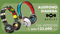 Audifonos Marley Beats Headphones, Over Ear Headphones, Head Bands