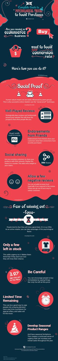 Psychological Tricks to Boost Purchases - #Infographic