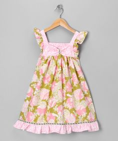 Take a look at this Pink & Green Dots & Ducks Dress - Infant, Toddler & Girls on zulily today!
