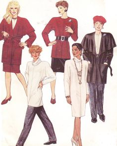 90s McCalls Sewing Pattern 5056 Womens WrapJacket by CloesCloset, $10.00