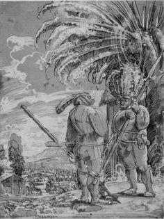 Artist: Albrecht Altdorfer Title: Zwei Landsknechte Date: First half of 16th century.
