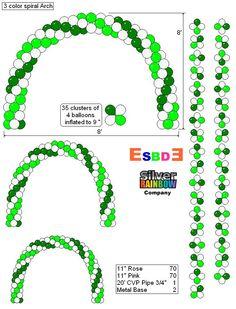 Arco espiral 3 colores