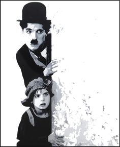 Charlie Chaplin // by Patrick Jolivet #jolivet #artwork #painting #movie #charlie #chaplin #culte