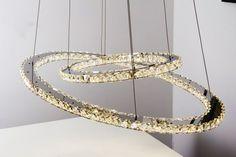 LED Hängeleuchte Design Pendelleuchte Chrom Hängelampe Glas Pendellampe Leuchte…