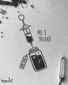 """Drawing Doodles Sketches """"All I needed"""" ᐂJust a bit of space If you're in need of some space, or just like stars. I have a few enamel pins available on my Etsy of… - Space Drawings, Dark Drawings, Doodle Drawings, Animal Drawings, Doodle Art, Cute Drawings, Tattoo Drawings, Tattoo Ink, Tattoos"""
