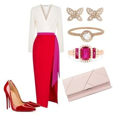 """Без названия #2892"" by claire-hamilton-bristol ❤ liked on Polyvore featuring Elizabeth and James, Rasario, Christian Louboutin, Michael Kors, Effy Jewelry, Candela and Megan Thorne"