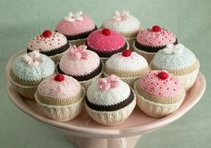 Ravelry: knitted cupcake pattern by Little Cotton Rabbits