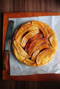 Notions & Notations of a Novice Cook - Making Banana Tarte Tatin