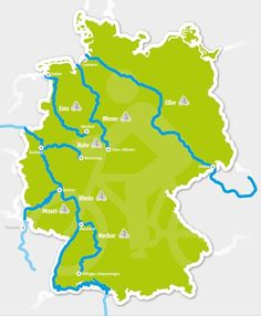 Karte von Deutschland Holiday Wishes, Woodland Party, Outdoor Life, Where To Go, Touring, Bike, Bicycling, Boats, Camper