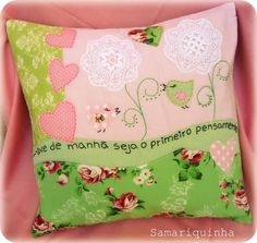 almofadas bordadas - Pesquisa Google