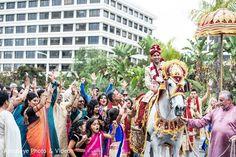 Baraat http://www.maharaniweddings.com/gallery/photo/58550 @aaroneye @MarriottNB/newport-beach-marriott-hotel-spa-weddings