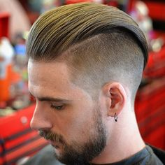 Long Slicked Back Undercut Hairstyle