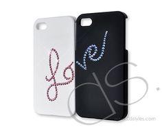 Love Bling Crystal Phone Case - Couple Set  http://www.dsstyles.com/brands/love-bling-swarovski-crystal-phone-case-couple-set.html