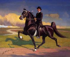 Midnight Star by George Ford Morris - think I like this just as much as Munnings