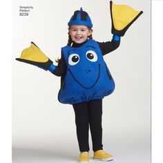 Help Dory find her mother in these adorable costumes sized for toddlers from…