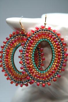 Make into a circular brick stitch earring