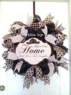 Bless our Home Wreath by WreathsbyDesign1 on Etsy, $80.00