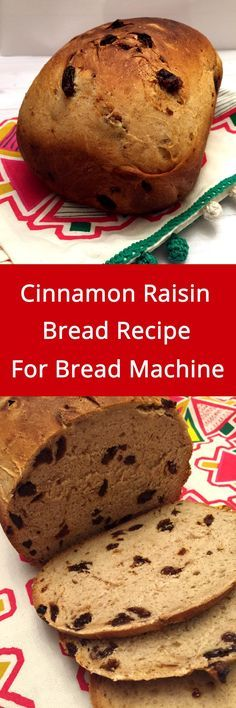 This cinnamon raisin bread recipe for bread machine is amazing! Just throw the simple ingredients in the bread machine and take out this delicious bread! Your house will smell like a bakery! Bread Maker Recipes, Baking Recipes, Yummy Recipes, Cake Recipes, Breadmaker Bread Recipes, Cornbread Recipes, Jiffy Cornbread, Recipies, Oatmeal Bread Recipe