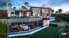 Located in Paseo Portugal, Elviria (Marbella). This modern luxury villa designed by Kristina O. Bråteng is located in a plot of 1,560 m2 with an elevated position in Elviria Cumbres. Due to the L-shaped design of the floor plan, all the rooms in the house are facing the spectacular views across the Mediterranean Sea.