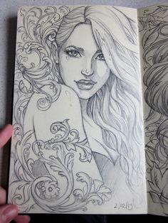 Moleskine 3 sketch by Sabinerich on DeviantArt