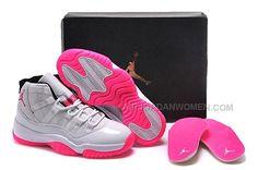 cf4a5b021733 2015 Nike Air Jordan 11 XI Retro Silver Pink Basketball Shoes Womens  Sneakers