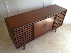 zenith console stereo turntables | Details about ZENITH STEREO CONSOLE RECORD PLAYER TUNER CREDENZA MID ...