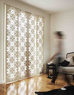Decoglide - a unique screen system lets you control the light, channelling it through decorative and detailed laser-cut panels