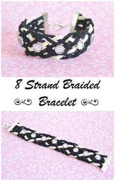 Picture of Make a beautiful 8 strand braided leather bracelet