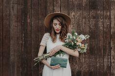 Leather Wallet - The Hazel - Emerald Green & Honey