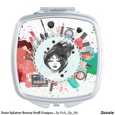 Paint Splatter Beauty Stuff Compact Mirror