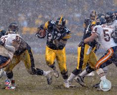 Steeler football in the weather