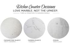 Alternatives to Cararra Marble