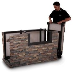 Outdoor Grills | American Outdoor Grill 790 Stack Stone Base with Midnight Copper ...