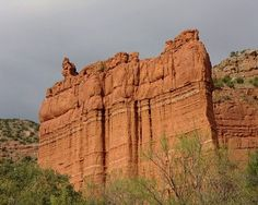 Caprock Canyons State Park and Trailway is a Texas state park located along the eastern edge of the Llano Estacado in Briscoe County,  approximately 100 miles southeast of Amarillo. The state park opened in 1982 and is 15,314 acres in size, making it the third-largest state park in Texas.