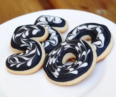 Mini 50th Birthday OvertheHill Sugar Cookies by guiltyconfections, $21.00