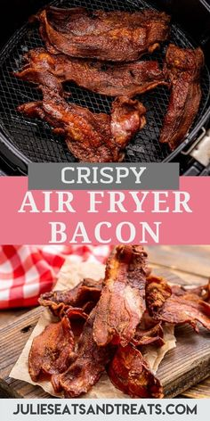 Crispy, delicious Air Fryer Bacon is so easy to make! No grease splattering all over your kitchen. If you've never made bacon in your Air Fryer, today is the day to start! #airfryer #bacon Breakfast Items, How To Make Breakfast, Easy Brunch Recipes, Yummy Recipes, Biscuits And Gravy Casserole, Bacon In The Oven, Homemade Pancakes, Cooking Bacon, Pork Dishes