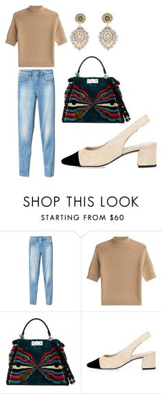 """""""Untitled #169"""" by katarina-kaen ❤ liked on Polyvore featuring Gap, Theory, Fendi, River Island and Miguel Ases"""