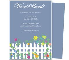 City moving announcement card template new address announcements moving announcements and new address moving postcards white picket fence printable just moved card template accmission Choice Image